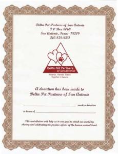 Memorial certificate